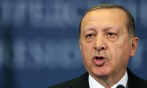 Turkish President Erdogan has said his country will boycott the US ambassador.
