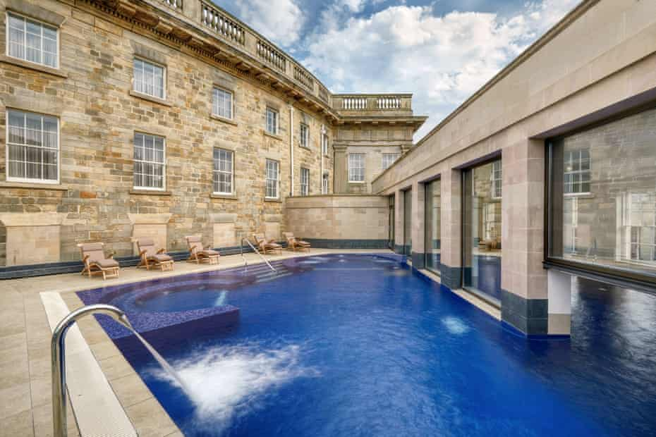outdoor pool at Buxton Crescent Hotel & Spa.