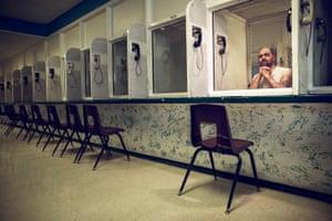 Paul Devoe sits on death row in Livingston, Texas, in March 2017, having shot dead six people in 2007