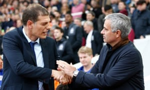 Slaven Bilic and José Mourinho will renew their acquaintance at Old Trafford in the EFL Cup.