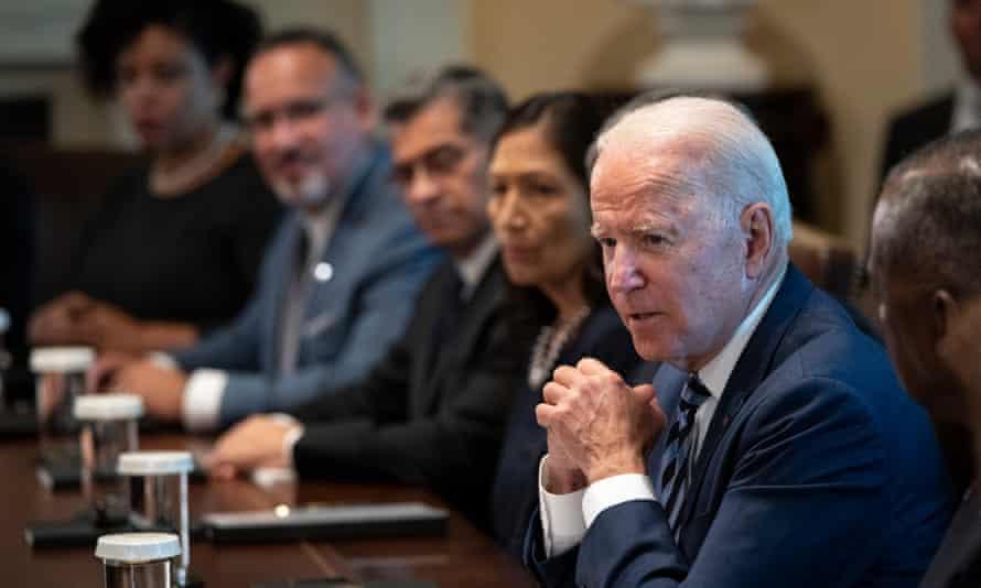 Joe Biden at a cabinet meeting last month.