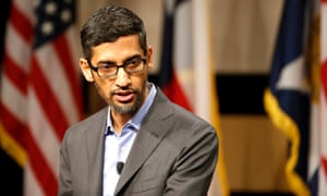 Google's CEO, Sundar Pichai. A spokesperson said: 'We've been extremely clear that Google's sponsorship doesn't mean that we endorse that organization's entire agenda – we may disagree strongly on some issues.'