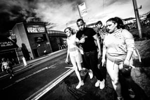 People on a Blackpool street