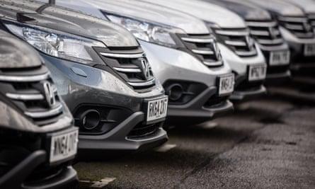 Cars for sale at a dealer