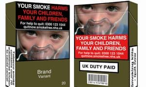 Plain cigarette packaging