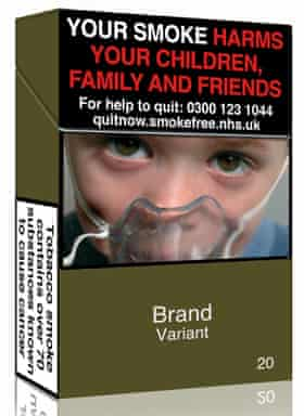 A design for a standardised cigarette pack in 'opaque couché'.