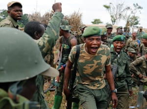 Government soldiers in Kimbau, the Democratic Republic of Congo