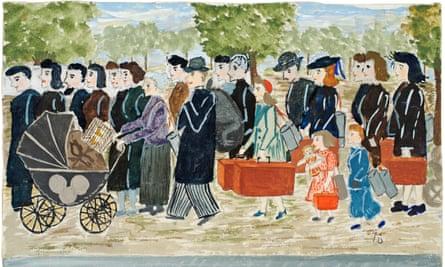 'The exodus of 13 June 1940', la route de Fontainebleau.