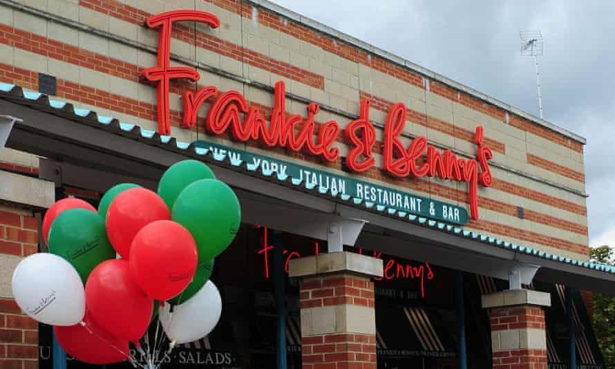 Balloons adorn a Frankie & Benny's restaurant