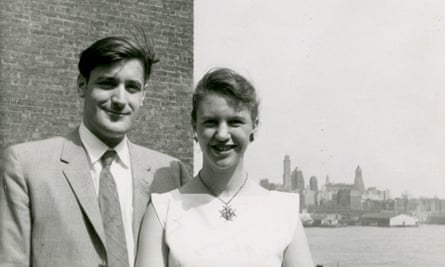 Sylvia Plath and Ted Hughes  in New York, 1958.