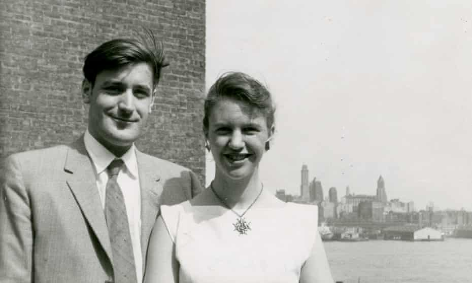 Ted Hughes and Sylvia Plath in 1958.