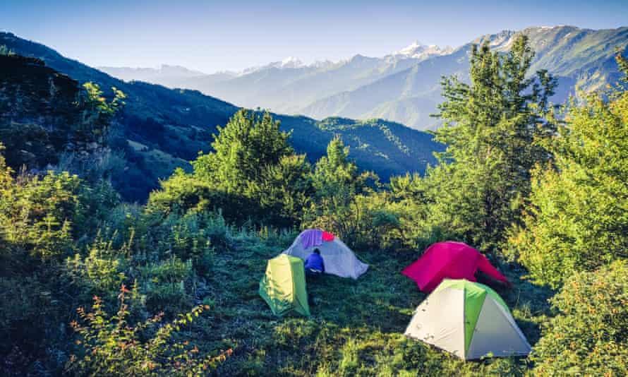 Trailbuilders camping at Upper Svaneti