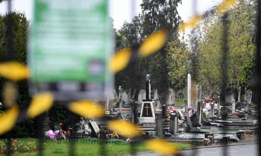 UK cemetery closed due to the Covid-19 outbreak