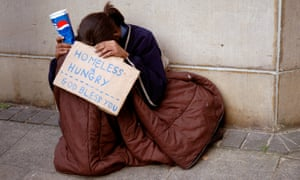 Young homeless person