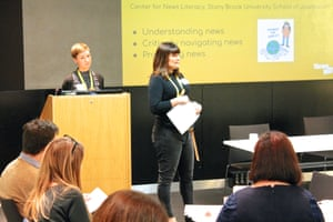 Elli Narewska and Angie Pitt from NewsWise share their excellent resources, lesson plans and schemes of work to develop news literacy skills in children at the Guardian Education Centre Reading for pleasure conference 9 November 2018