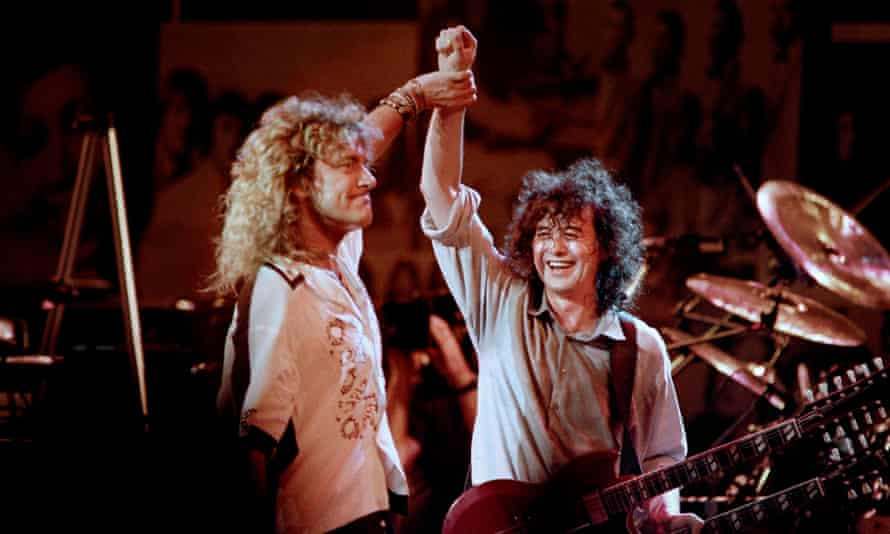 Robert Plant and Jimmy Page in 1988.