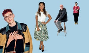 Chilled out … Olly Alexander, Antonia Thomas, Irvine Welsh and Jackie Kay.