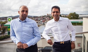Zuber and Mohsin Issa, founders of Euro Garages, pictured in Blackburn.
