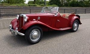 Blue-sky thinking: this MG TD is just one of more than 4,000 cars listed in 36b countries by BookAclassic