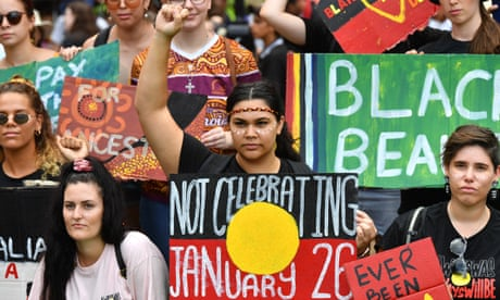 Australia Day: Indigenous mourning, protests and citizenship ceremonies – in pictures