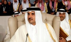 Qatar's emir, Sheikh Tamim bin Hamad al-Thani