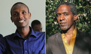 'A man whose words stood in the face of prison' … left, Befeqadu Hailu and Lemn Sissay, who share this year's PEN Pinter prize.