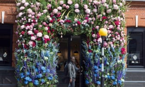Foliage around the door of a J Crew store in west London taking part in Chelsea in Bloom last year.