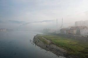 A new dawns along the banks of the Drina River. Goražde, November 2013