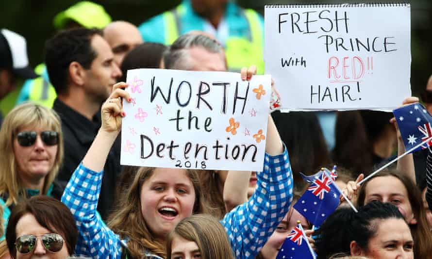 Fans of Prince Harry and Meghan lined up for hours to get a glimpse of the couple in Melbourne.