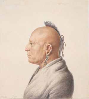 Charles Balthazar Julien Févret de Saint-Mémin - Osage Warrior