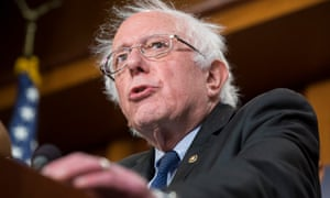 Bernie Sanders at a news conference on Capitol Hill in Washington DC on 10 January.