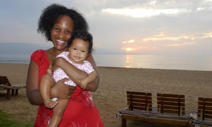 Nicola Yoon and her daughter, who is now five.