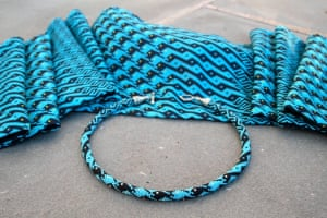 Fish Transformation Necklace and Scarf by Ellie Baker