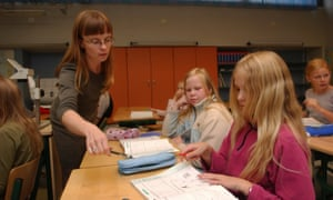A classroom in Finland