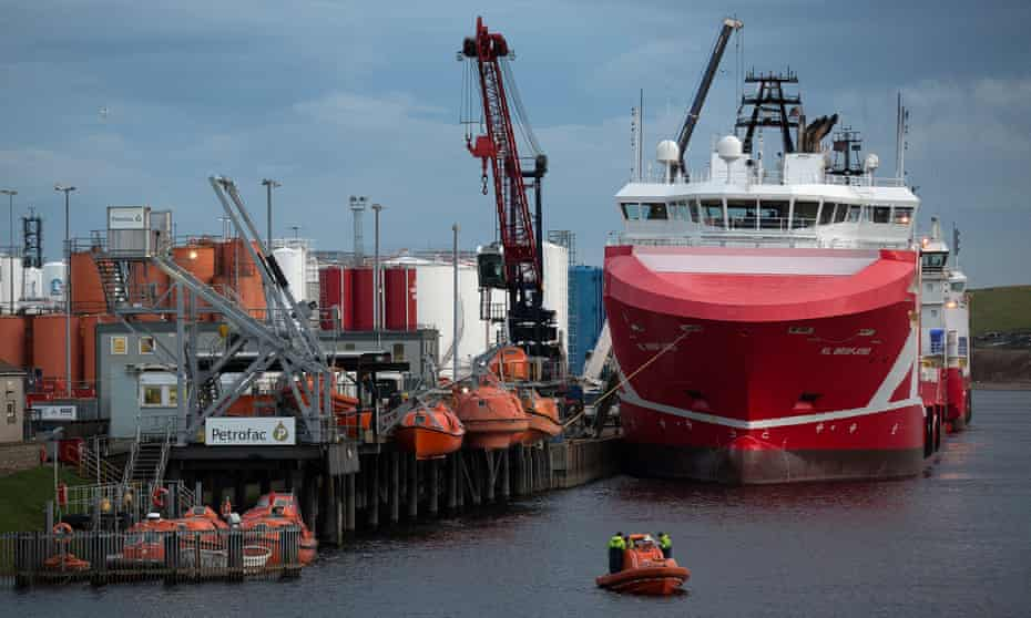 A Petrofac facility at Aberdeen harbour, Scotland