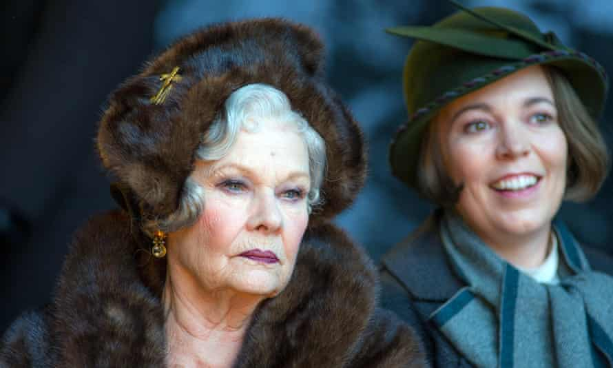 Judi Dench as Princess Dragomiroff and Olivia Clman as Hildegard Schmidt.