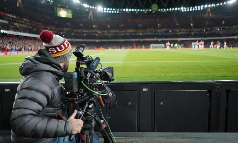An Amazon Prime camera covers Arsenal v Brighton in 2019