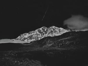 """Falling Star, Nepal""""The search for the right destination led me to the Annapurna, the 55-km-long massif that includes Annapurna I, which at 8091 metres is the world's ninth highest peak""""."""