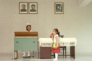 A scene at Kim Jong Suk nursery in Pyongyang, named after Kim Il-Sung's first wife, who died during childbirth in 1949.