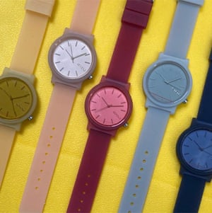 Modern times Practical and water-resistant, Plumo watches are available in a great selection of bright colours. £79, plumo.com
