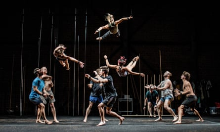 Circus/physical theatre company Gravity and Other Myths will perform at Sydney festival on the outdoor open stage.