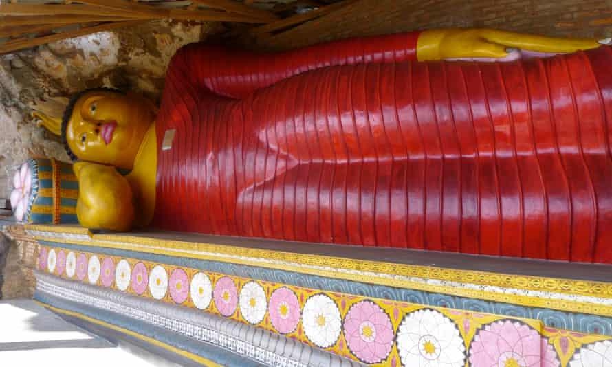 The reclining buddha at Nagala, central Sri Lanka.