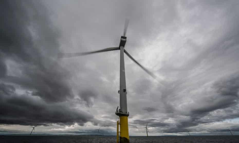 Part of a wind farm off Merseyside