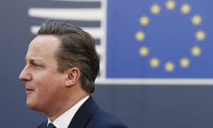 David Cameron arrives at the EU council headquarters for a second day of a European Union leaders summit.