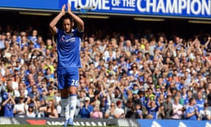 Chelsea's John Terry leaves the field in the Premier League match against Sunderland.