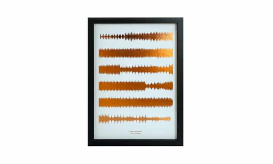 Personalised song soundwave print