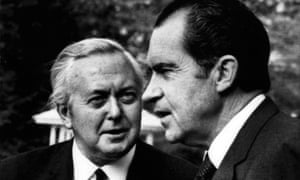 Harold Wilson and Richard Nixon in April 1971, months before the president abandoned the gold standard.