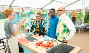 Back to basics ... Junior Bake Off's Tom with Harry, Liam and Prue.