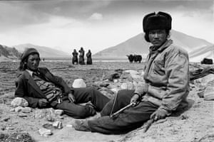 People at rest, Tibet, 2001 from 'Four Seasons'