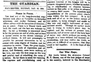 The Guardian, 12 January 1920.